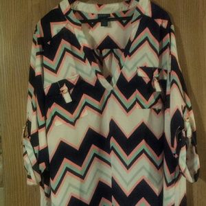 Tunic length, polyester top